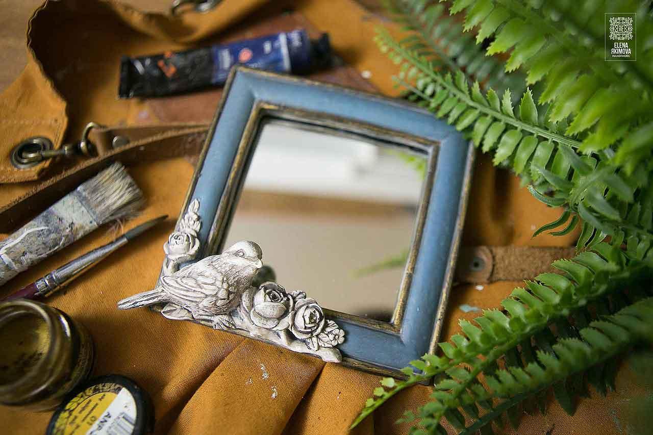 Зеркало своими руками из гипсовой рамки