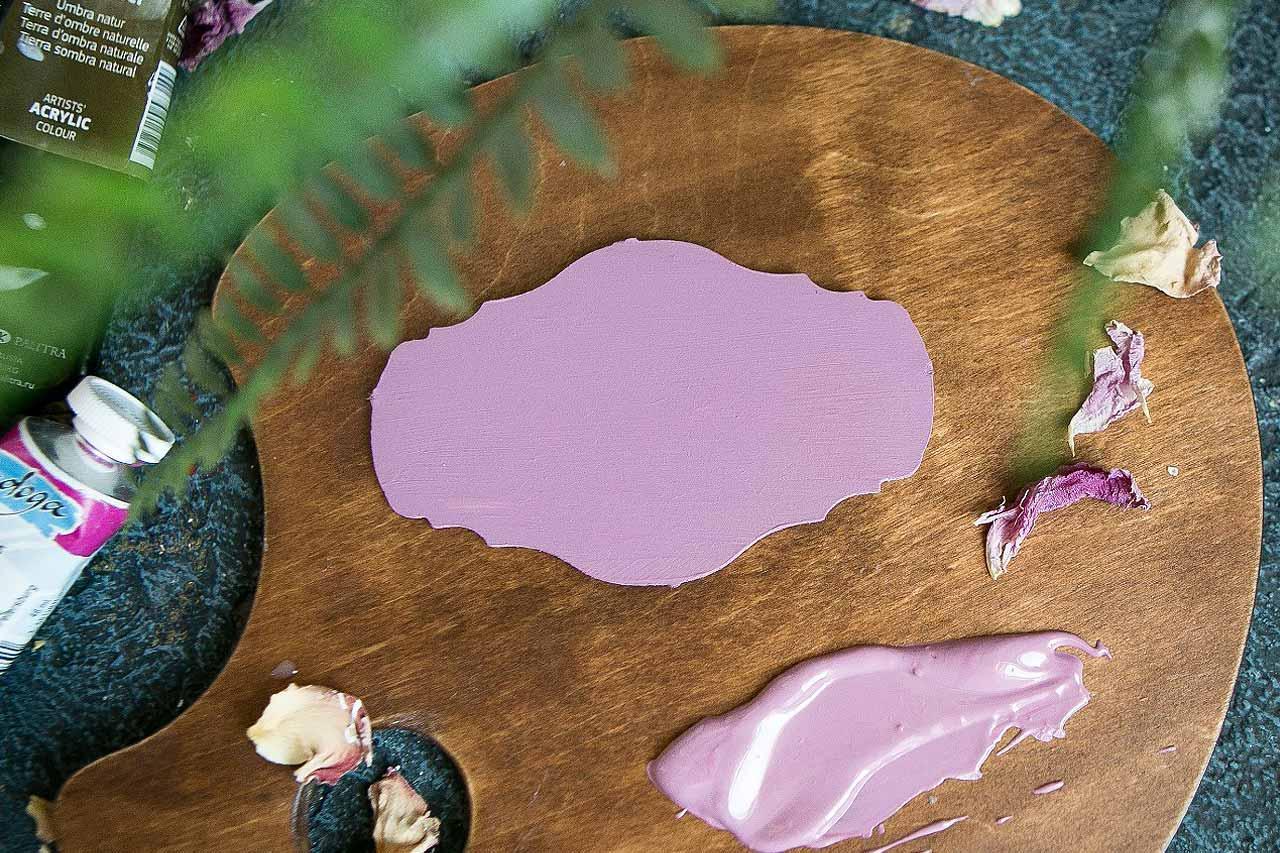 Теория цвета - пыльно-розовый оттенок
